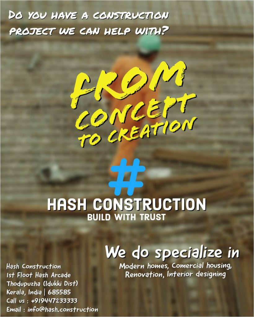 The best Construction Company in Calicut and Thodupuzha